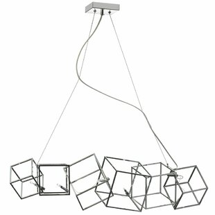 Radionic Hi Tech Cubo 6-Light Geometric Chandelier