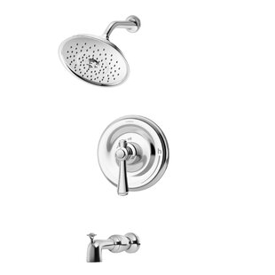 Symmons Degas Single Handle Thermostatic Tub and Shower Faucet with Metal Lever Handle
