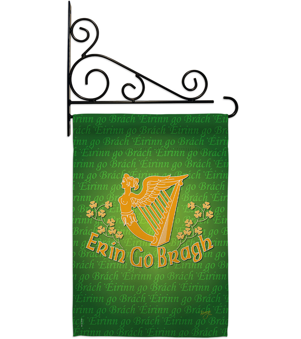 Breeze Decor Erin Go Bragh Impressions Decorative 2 Sided Polyester 19 X 13 In Flag Set Wayfair