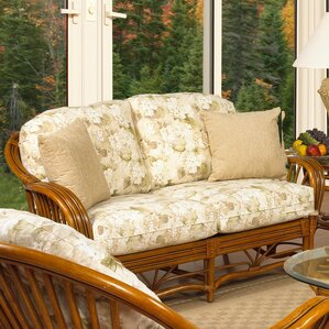 Antigua Leather Loveseat by Boca Rattan