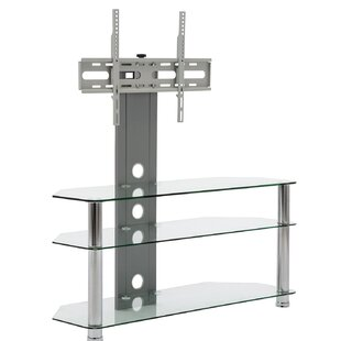 Howard Beach Glass TV Stand for TVs up to 28