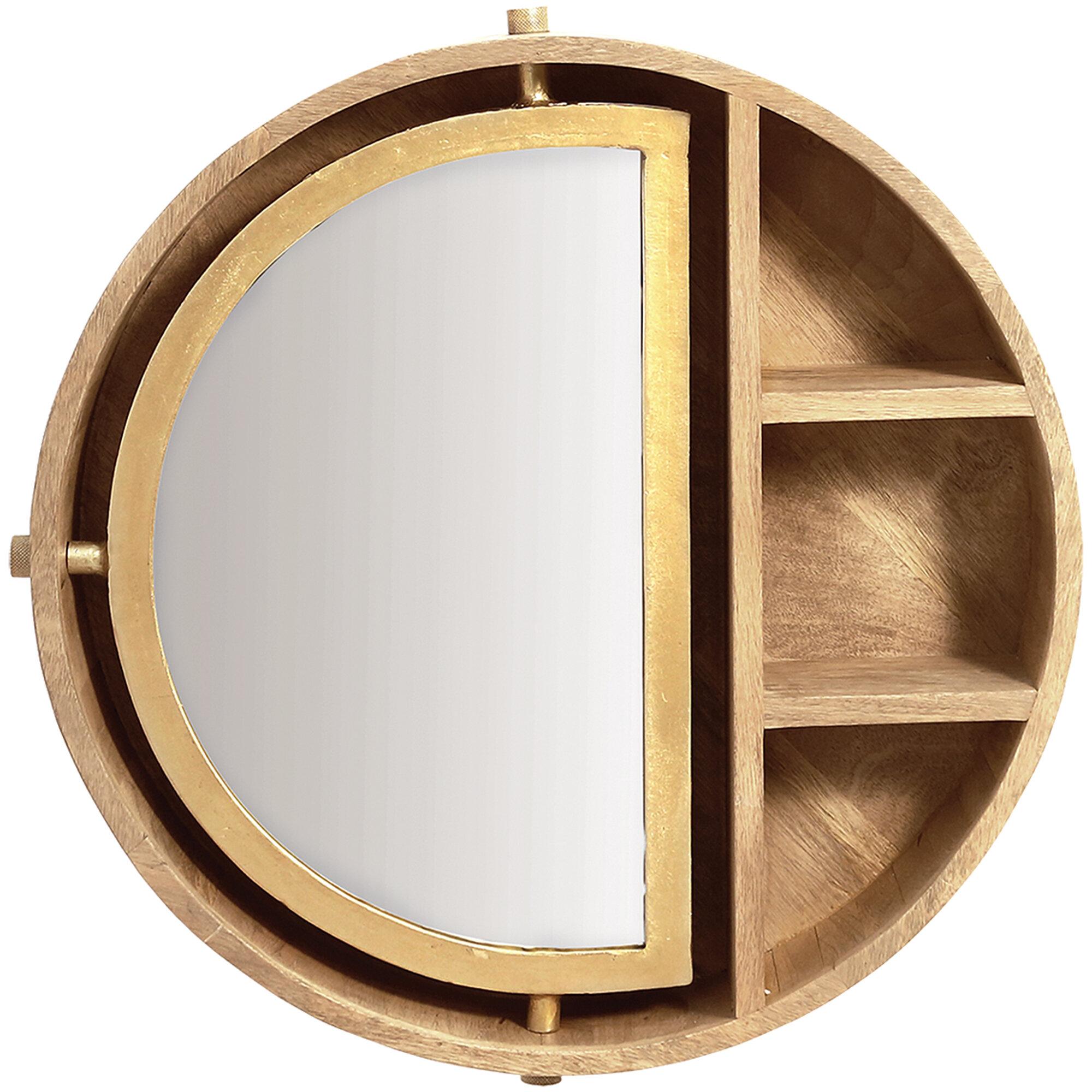 Light Wood Shelves Mirrors You Ll Love In 2021 Wayfair