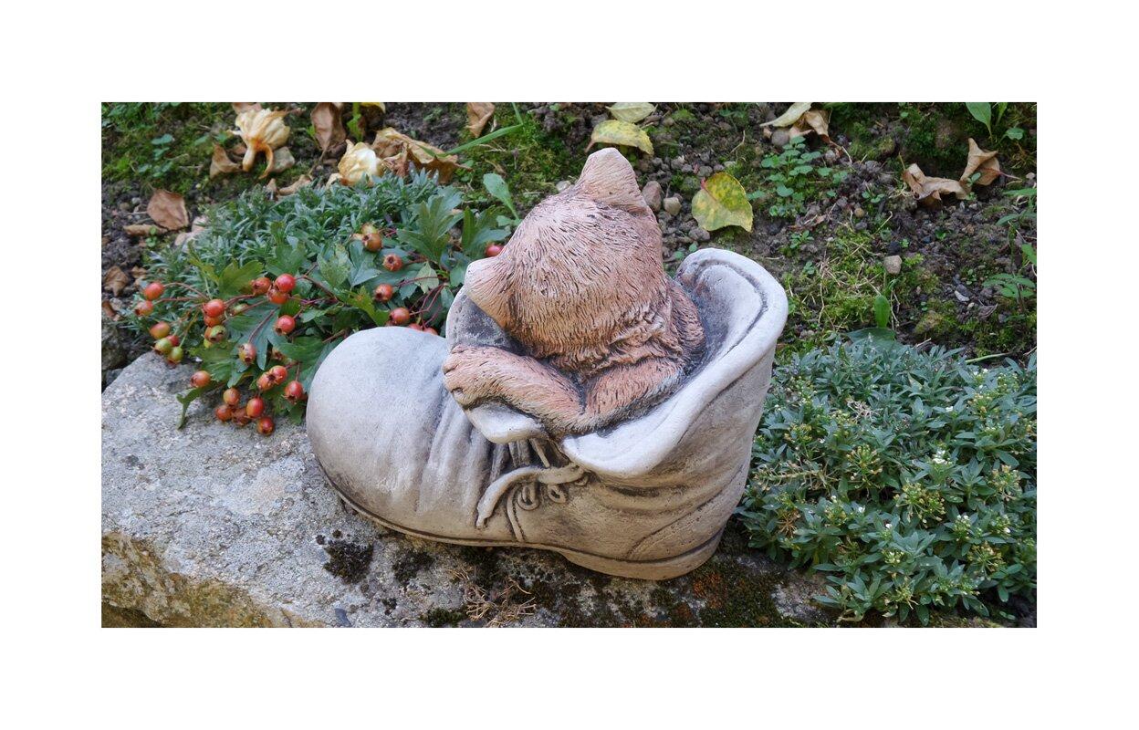 Garden ornaments by onefold cat in shoe stone garden statue cat in shoe stone garden statue workwithnaturefo