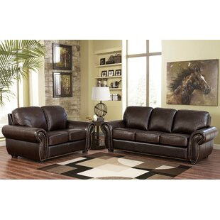 Rosie Leather Configurable Living Room Set by Darby Home Co