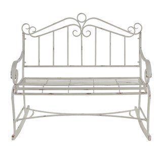 Ophelia & Co. Gianick Traditional Distressed Scrollwork Garden Bench