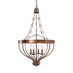 Oakpark Beaded Empire 4-Light Candle Style Chandelier by Ophelia & Co.