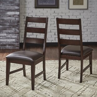 Aguayo Upholstered Dining Chair (Set of 2) Canora Grey