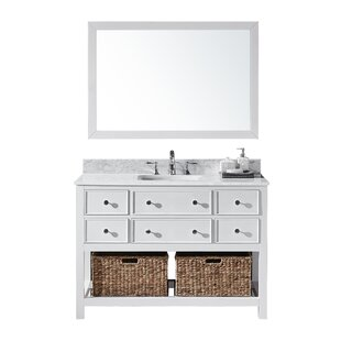 Truby 48 Single Bathroom Vanity Set with Mirror by Charlton Home