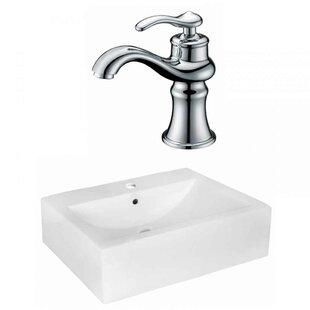 Royal Purple Bath Kitchen Xena Farmhouse Semi-Recessed Ceramic 20.25