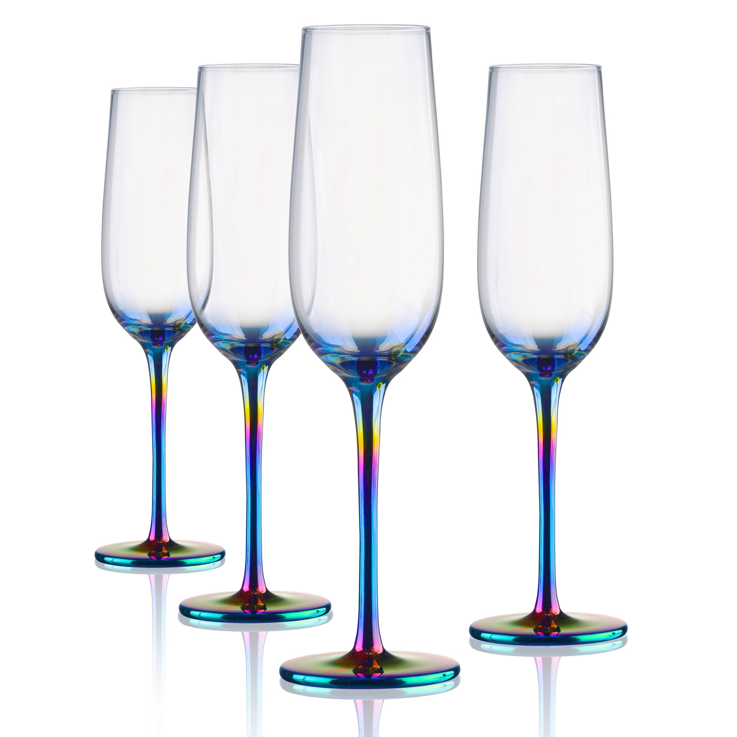 Ebern Designs Rosenbaum 9 Oz Glass Flute Wayfair