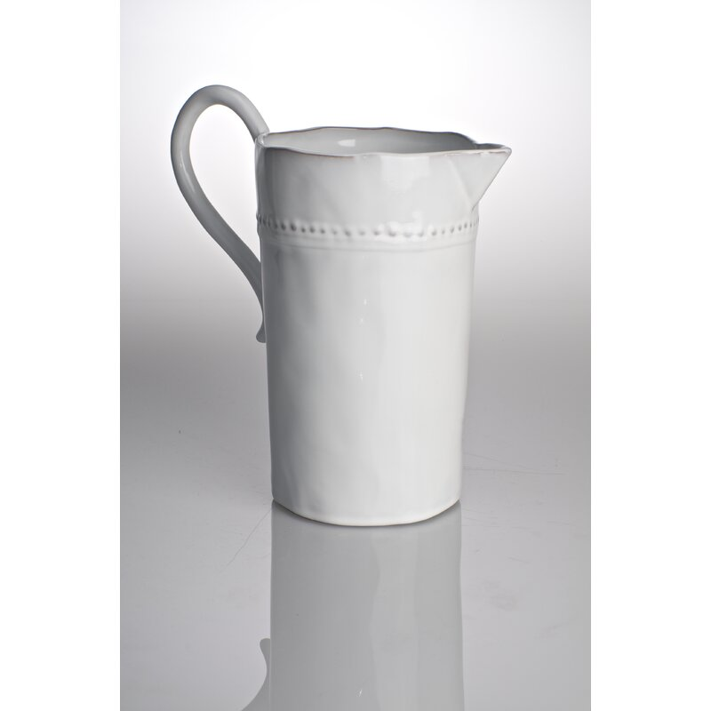 Charlot French Beaded Rim Pitcher