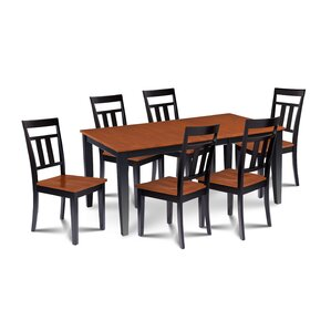 Charlestown Contemporary 7 Piece Dining Set by Alcott Hill