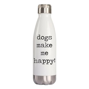 Creekmore Dogs Make Me Happy 16 oz. Stainless Steel Water Bottle