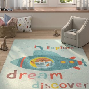 Engler Submarine Dream Sky Blue Area Rug By Zoomie Kids
