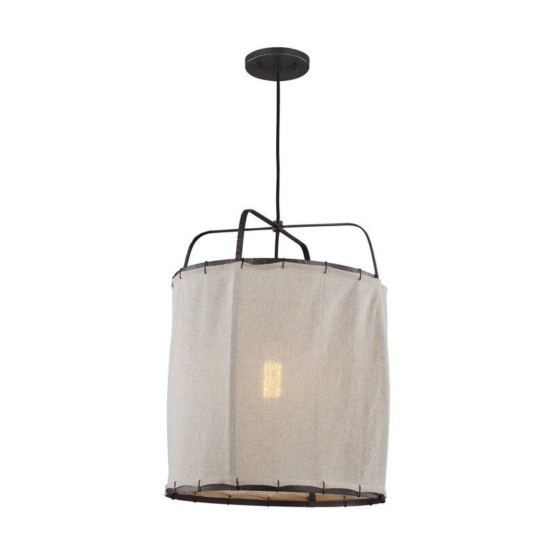 Dunne 1-Light Lantern Cylinder Pendant