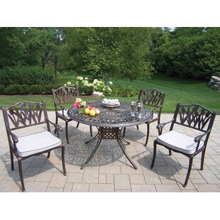 Farrior Dining Set with Cushions by Brayden Studio