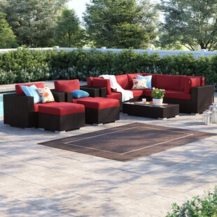 Brentwood 10 Piece Rattan Sectional Set with Cushions