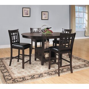 Araiza 5 Piece Counter Height Extendable Dining Set by World Menagerie New Designt