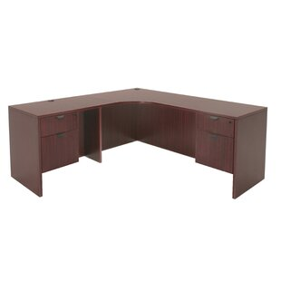 Linh Double Pedestal Credenza Left L-Shape Corner Desk