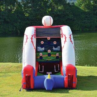 JumpOrange Inflatable Baseball Game Bounce House