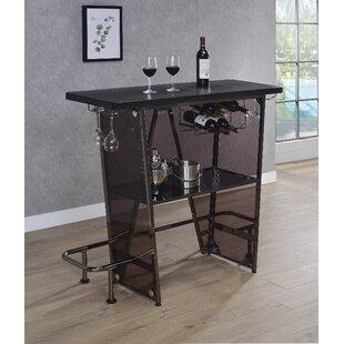 Williston Forge Cassell 1 Tier Bar with Wine Storage