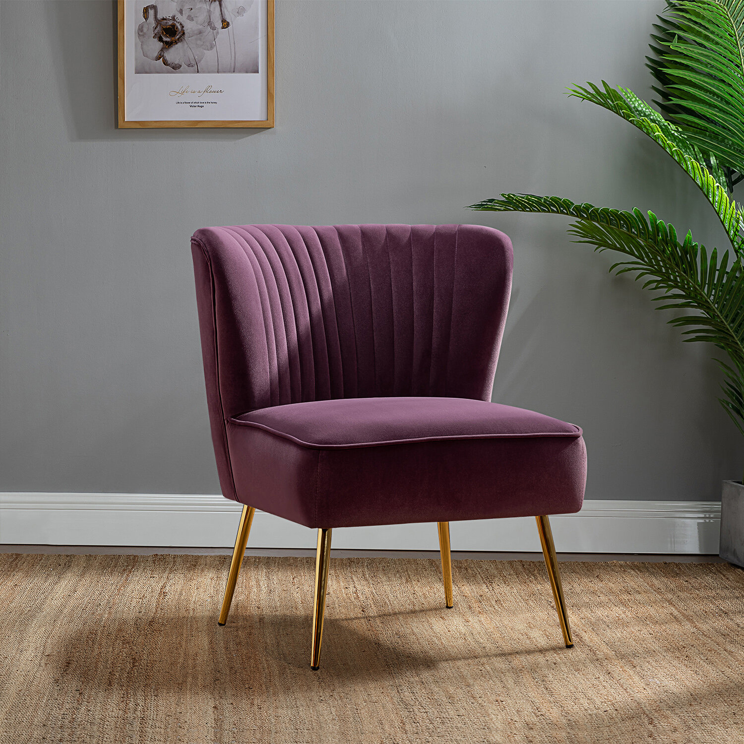 Purple Accent Chairs You Ll Love In 2020 Wayfair