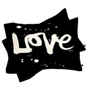 Kal Barteski Love Black Pillowcase