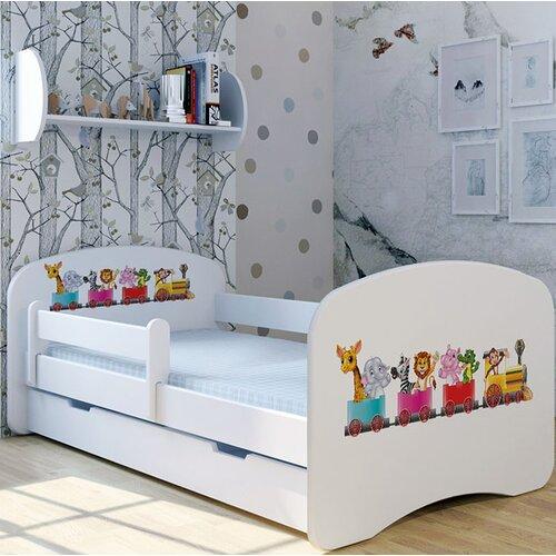 Funktionsbett Zoo mit Matratze und Schublade   Schlafzimmer > Betten > Funktionsbetten   Weiß   Mdf - Holz   Möbel Concept