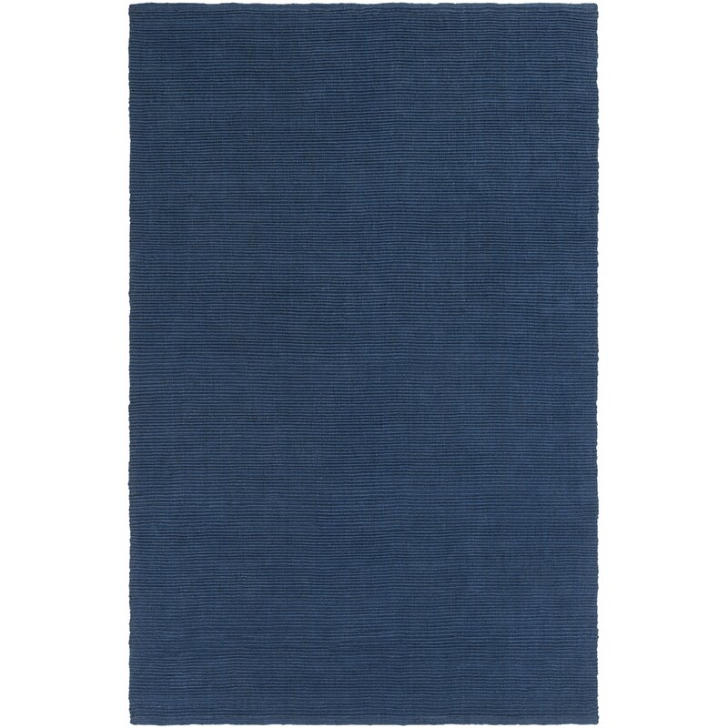 Yother Hand Woven Denim Blue Area Rug