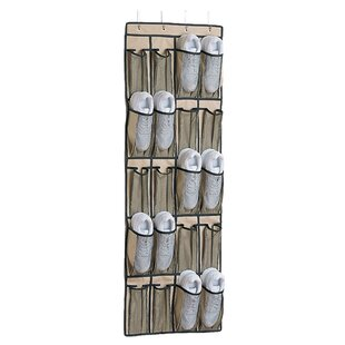 20-Pocket 10 Pair Overdoor Shoe Organizer By Organize It All