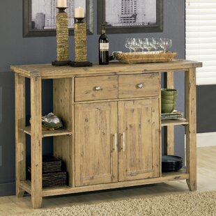 Lansing 2 Drawer Wooden Buffet Table Millwood Pines