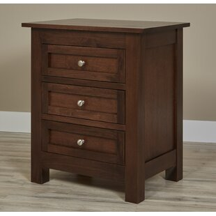 Bump 3 Drawer Nightstand by Darby Home Co