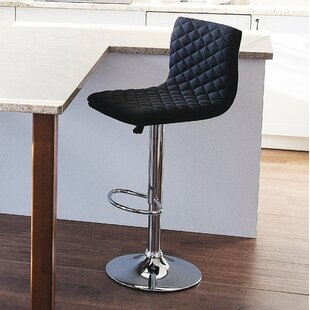 Bonnette Adjustable Height Swivel Bar Stool by Orren Ellis