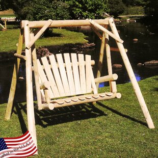 Porch Swing with Stand by Lakeland Mills