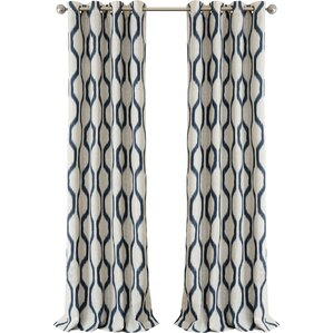 Wonderful Valdovinos Geometric Blackout Grommet Single Curtain Panel