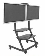 Dual Display Video Conferencing Floor Stand Mount By Chief Manufacturing