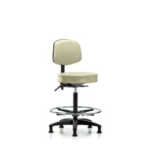 Yessenia High Bench Height Adjustable Lab Stool by Symple Stuff