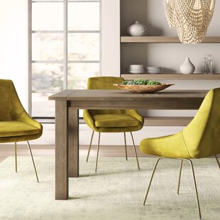 Gaia Driftwood Solid Wood Dining Table Mistana