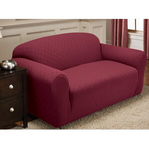 Stretch Sensation Box Cushion Loveseat Slipcover by Red Barrel Studio