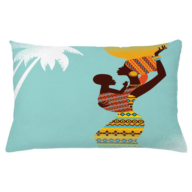 Ebern Designs Hisham African Mother Outdoor Cushion Cover Wayfair Co Uk