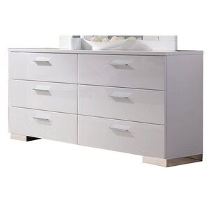 Schiavone 6 Drawer Double Dresser