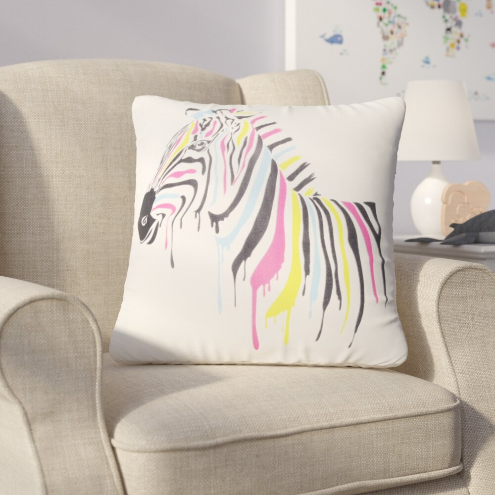 Zoomie Kids Halloran Zebra Throw Pillow Wayfair