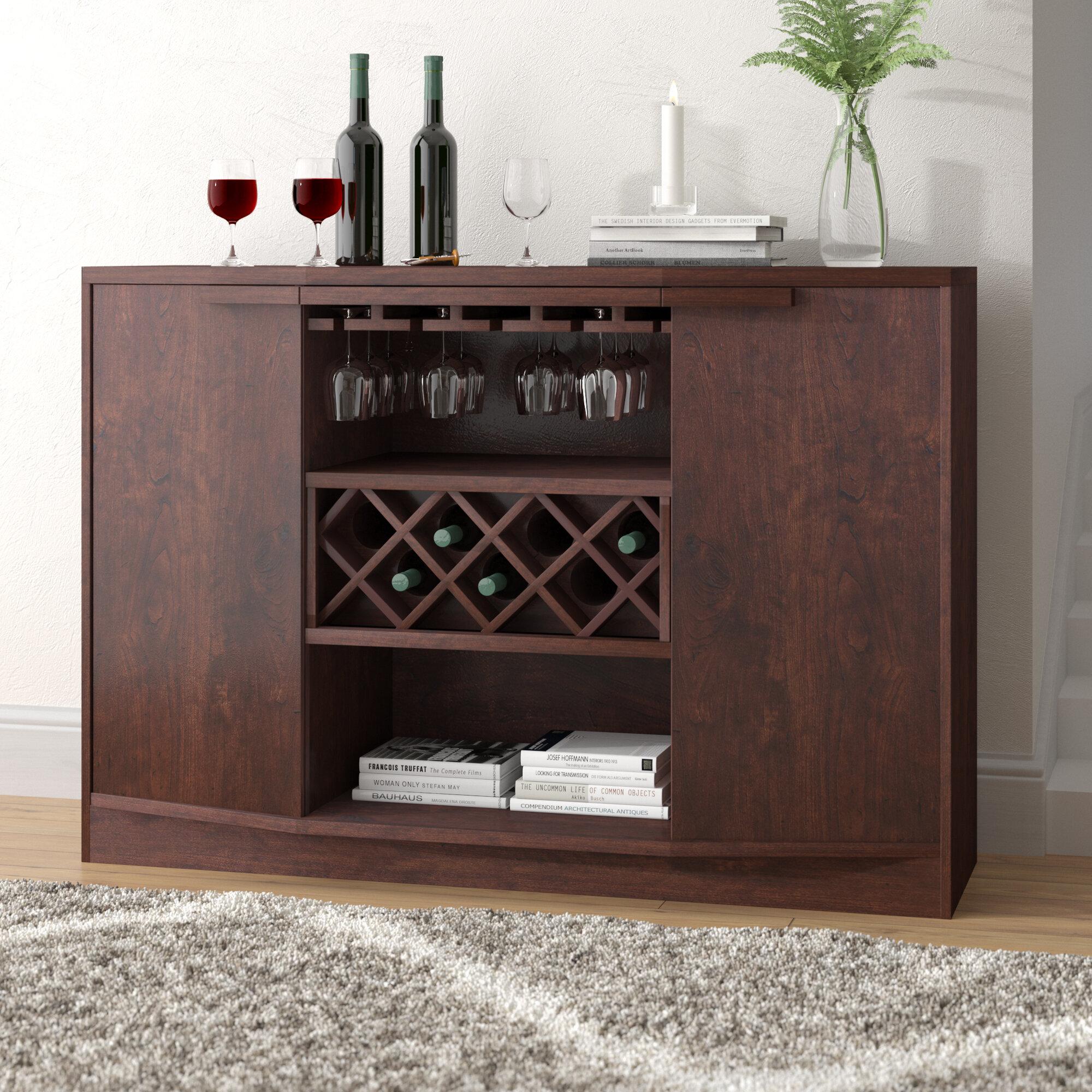 Wade Logan Xanthene Bar With Wine Storage U0026 Reviews | Wayfair