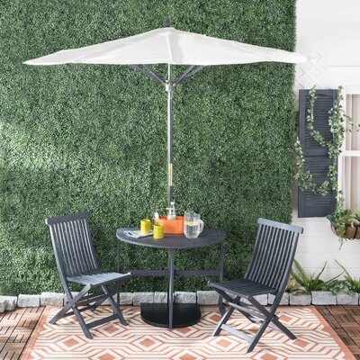 Southington 3 Piece Bistro Set With Umbrella by Andover Mills New Design