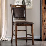 Ashlyn Nailhead 24.5 Bar Stool (Set of 2) by Loon Peak®