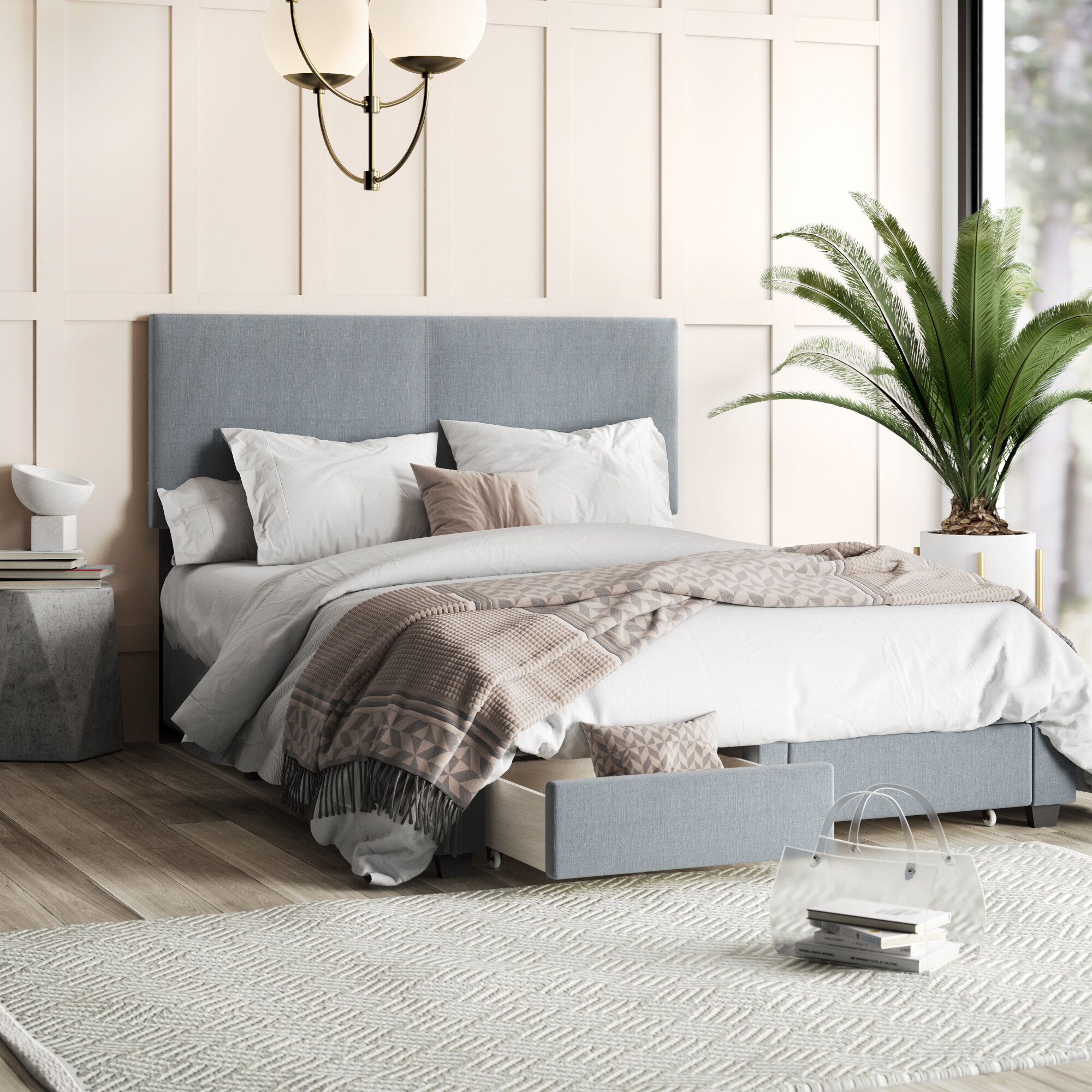 Peachy Colwell Upholstered Storage Standard Bed Caraccident5 Cool Chair Designs And Ideas Caraccident5Info