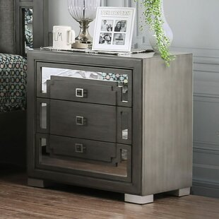 Angelita 3 Drawer Nightstand by Everly Quinn