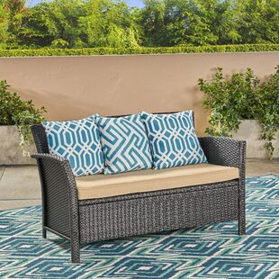 Ivy Bronx Mullenax Outdoor Loveseat with ..