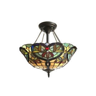Laurie 2-Light Semi Flush Mount by Astoria Grand