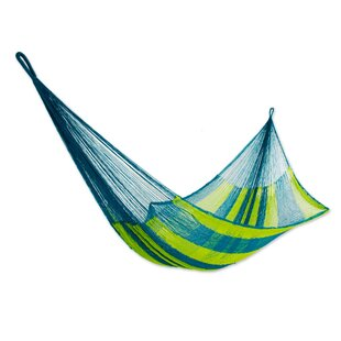 Novica Fluorescent Tropics Rope Single Nylon Tree Hammock